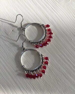 Ethnic Round Dangle Beads Earrings