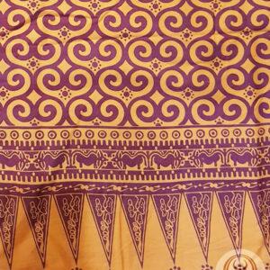 Full Toraja Batik Sarong - Orange 110cm