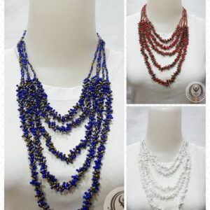 Ethnic Necklace 5 Layer Mixed Beads