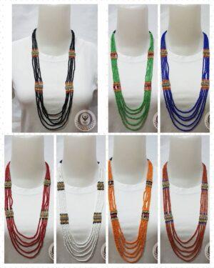 Ethnic Necklace 5 Layer Toraja Beads