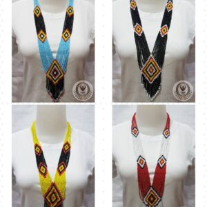 Ethnic Necklace With Designed Layer Beads