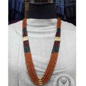 Toraja Ethnic Necklace - Masak Beads Five (5) Layers + Kalapo