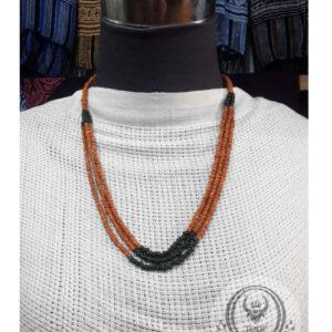 Toraja Ethnic Necklace - Plain Masak Beads Three (3) Layers