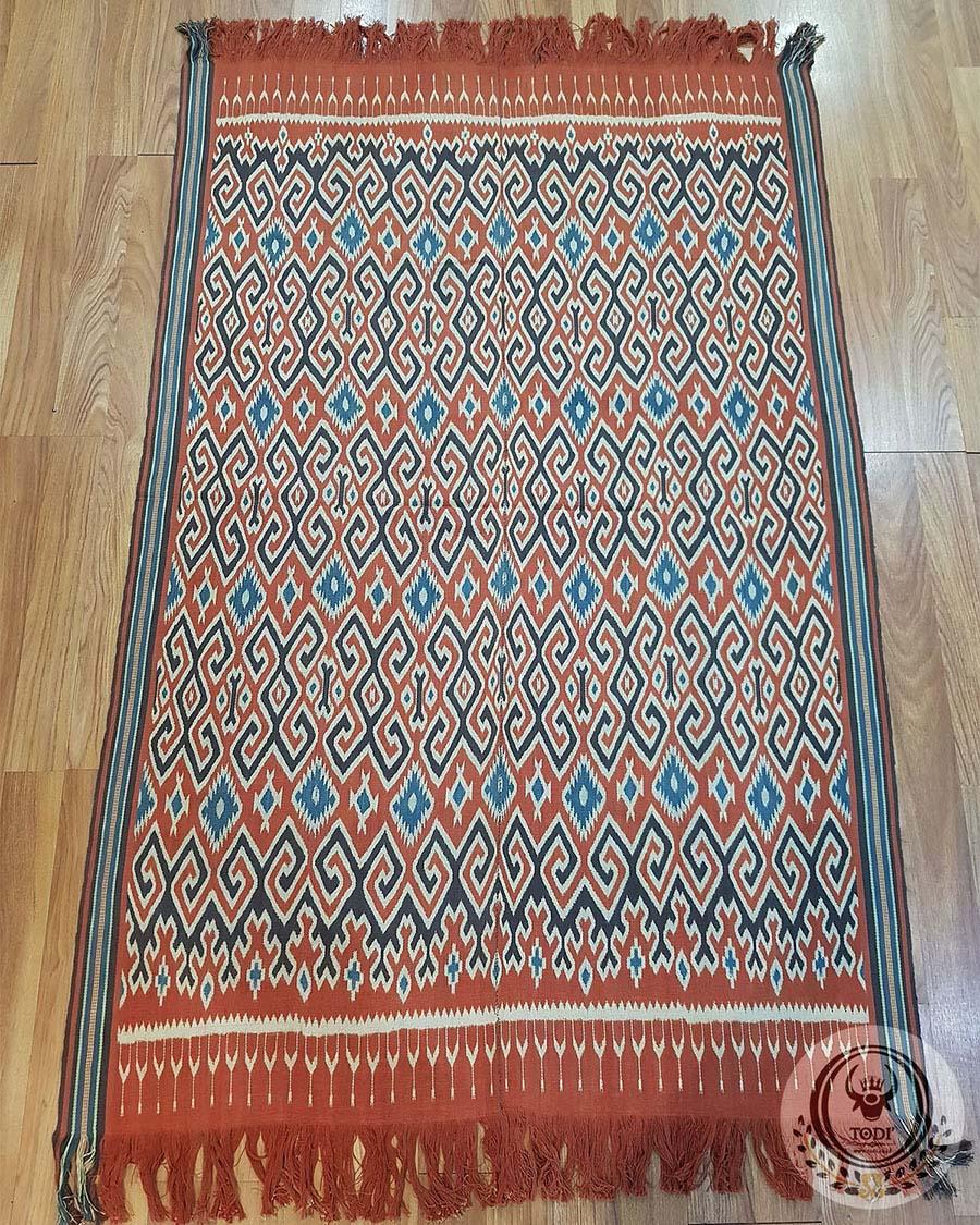 Tenun Tradisional Ikat Sekomandi - Lelen Sepu (127cm x 219cm)