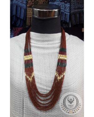 Toraja Ethnic Necklace - Masak Beads Seven (7) Layers + Kalapo