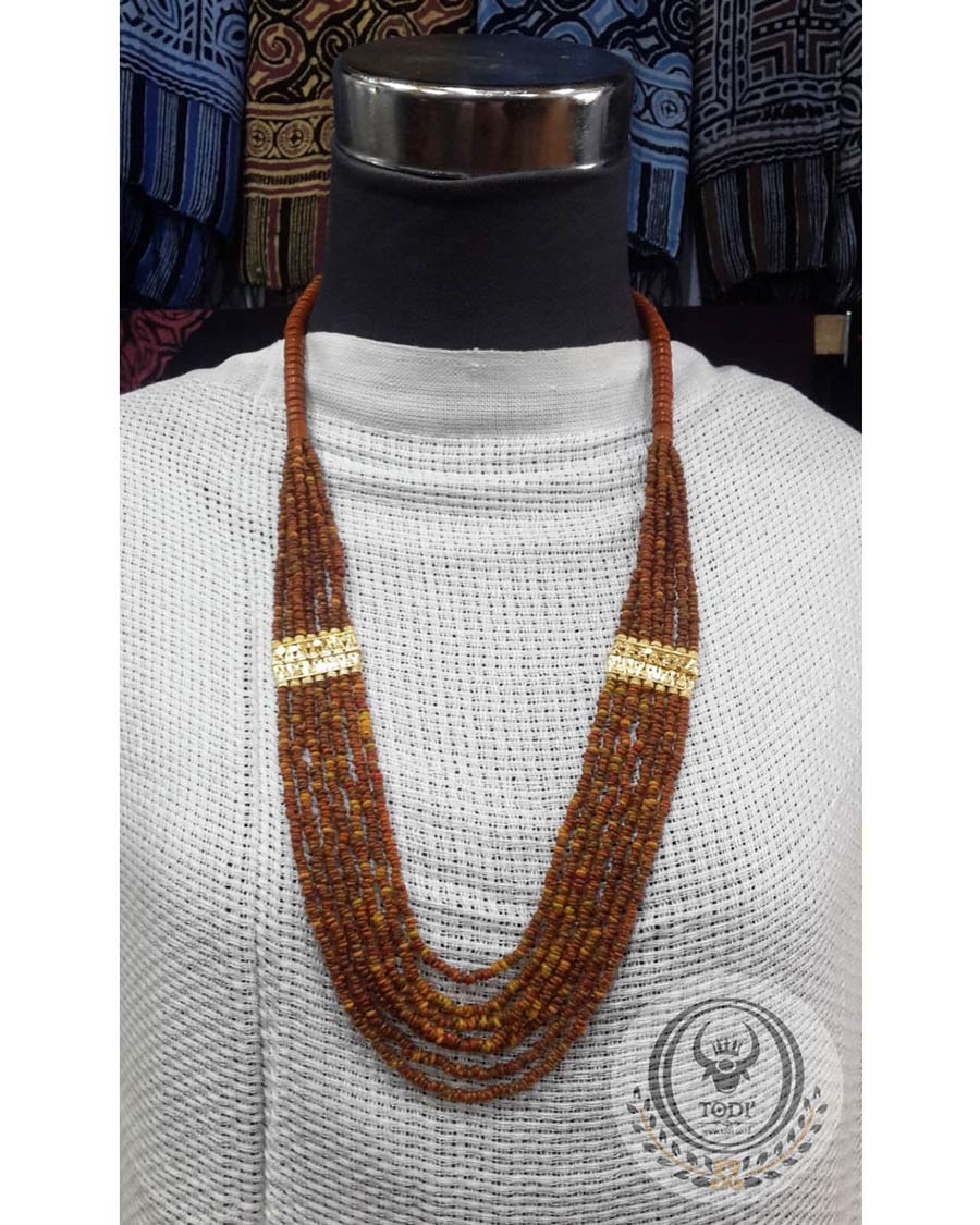 Toraja Ethnic Necklace - Plain Masak Beads Seven (7) Layers
